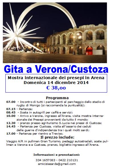 Circola Amicizia Sarda Treviso gita Verona Custoza