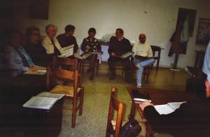 Aprile 2007 prove del coro Amicizia Sarda presso il Circolo02