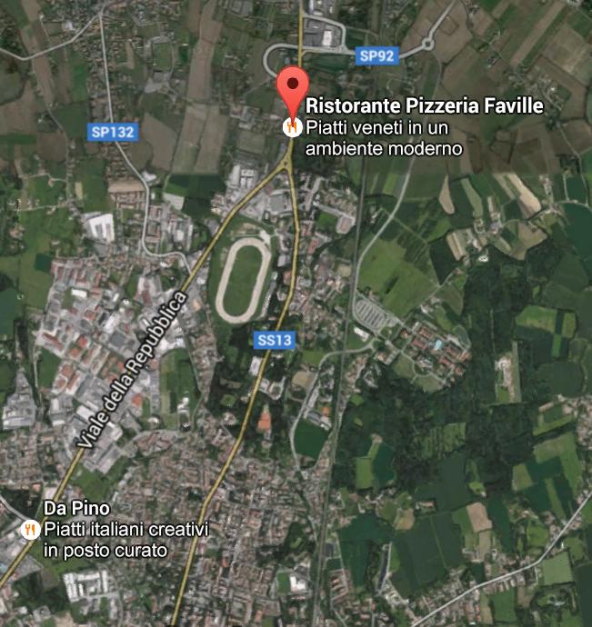 Piantina Ristorante Le Faville