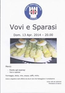 Vovi e Sparasi al Circolo Amicizia Sarda di Treviso