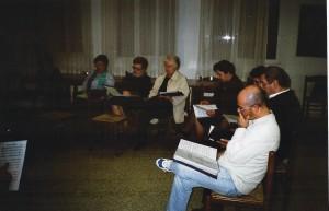 Aprile 2007 prove del coro Amicizia Sarda presso il Circolo01a